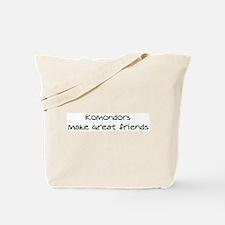 Komondors make friends Tote Bag
