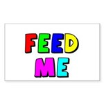 The Feed Me Rectangle Sticker