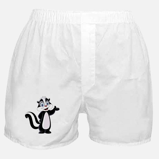 Cartoon Skunk Boxer Shorts