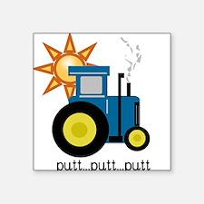 Blue Putt Putt Tractor Sticker