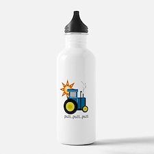 Blue Putt Putt Tractor Water Bottle
