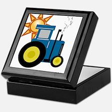 Blue Putt Putt Tractor Keepsake Box