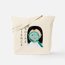Girl Science Rocks Tote Bag