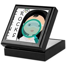 Girl Science Rocks Keepsake Box