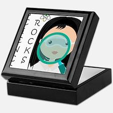 Girl Science Rocks Keepsake Box