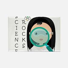 Girl Science Rocks Rectangle Magnet