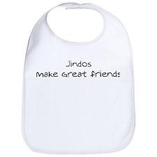 Jindos make friends Bib