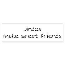 Jindos make friends Bumper Bumper Sticker
