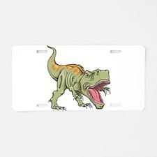 Screaming Dinosaur Aluminum License Plate