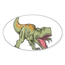Screaming Dinosaur Decal