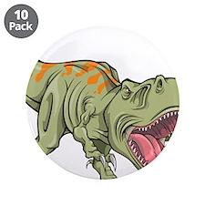 "Screaming Dinosaur 3.5"" Button (10 pack)"