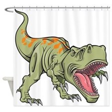 Screaming Dinosaur Shower Curtain