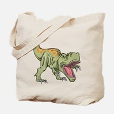 Screaming Dinosaur Tote Bag