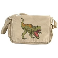 Screaming Dinosaur Messenger Bag