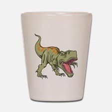 Screaming Dinosaur Shot Glass