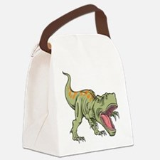 Screaming Dinosaur Canvas Lunch Bag