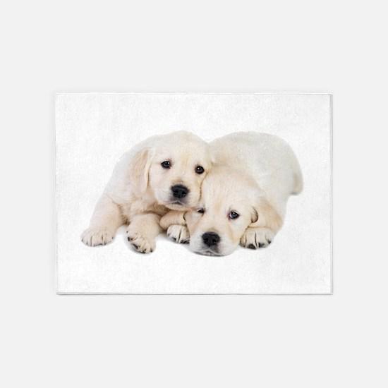 White Labradors 5'x7'Area Rug