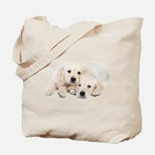 White Labradors Tote Bag