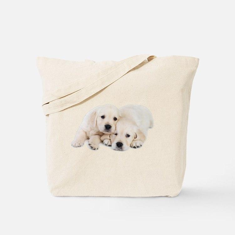 White Labradors Tote Bag