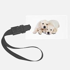 White Labradors Luggage Tag