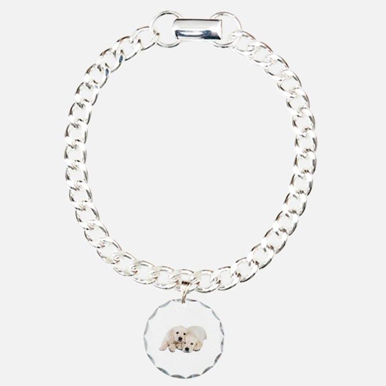 White Labradors Bracelet