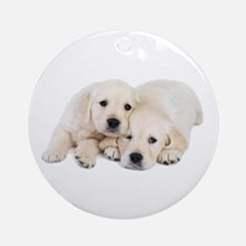 White Labradors Ornament (Round)