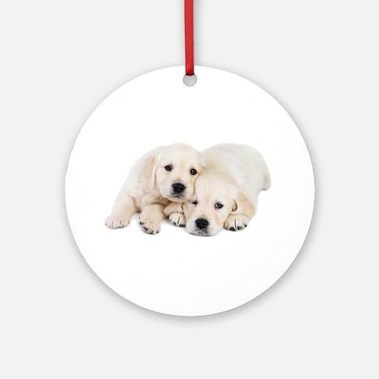 White Labradors Ornament (Round)