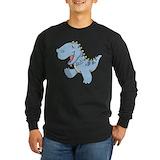 Cartoon dinosaur Long Sleeve T-shirts (Dark)
