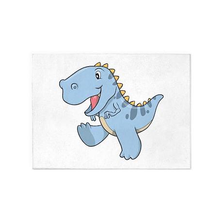 Playful Baby Dino 5'x7'Area Rug