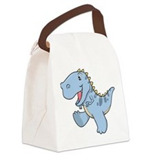 Playful Baby Dino Canvas Lunch Bag