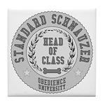 Standard Schnauzer University Tile Coaster