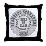 Standard Schnauzer University Throw Pillow