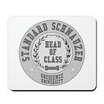 Standard Schnauzer University Mousepad