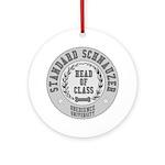 Standard Schnauzer University Ornament (Round)