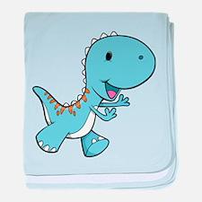 Running Baby Dino baby blanket