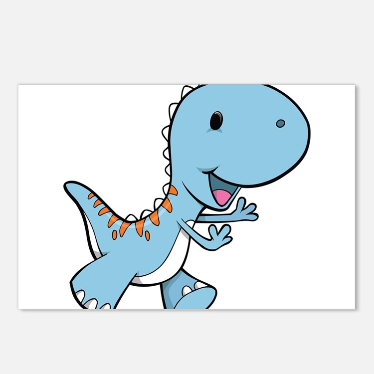 Running Baby Dino Postcards (Package of 8)