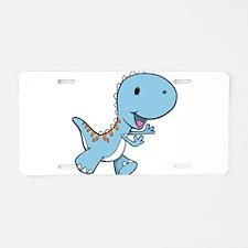 Running Baby Dino Aluminum License Plate