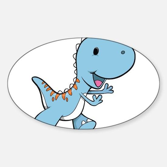 Running Baby Dino Decal