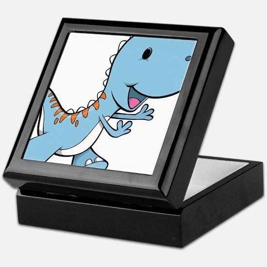 Running Baby Dino Keepsake Box