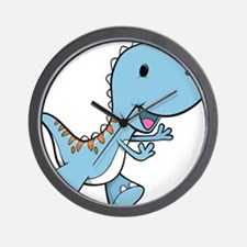 Running Baby Dino Wall Clock