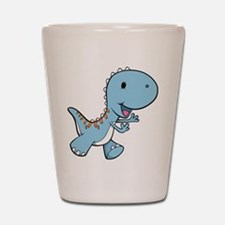 Running Baby Dino Shot Glass