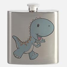 Running Baby Dino Flask
