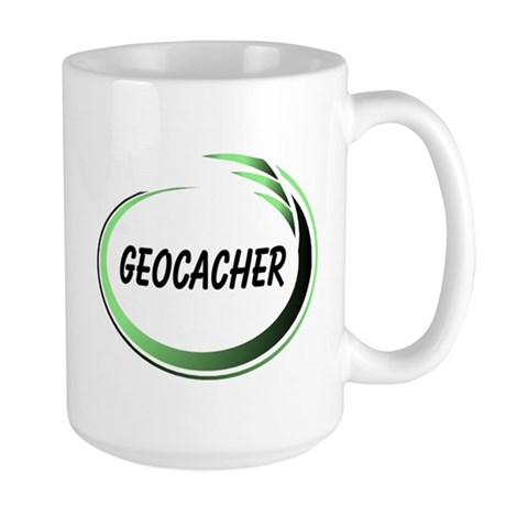 Green Geocacher Pizzaz Large Mug