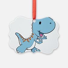 Running Baby Dino Ornament