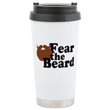 Fear the Beard - Brown Travel Mug
