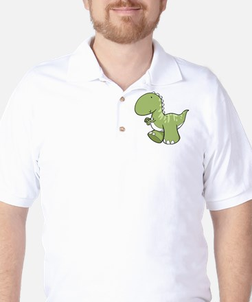 Green Baby Dinosaur Golf Shirt