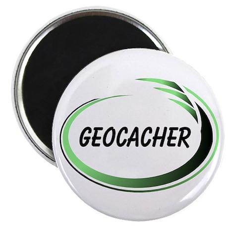 """Green Geocacher Pizzaz 2.25"""" Magnet (100 pack)"""