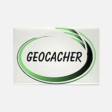 Green Geocacher Pizzaz Rectangle Magnet