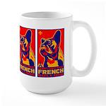 Obey the FRENCH BULLDOG! Large Mug