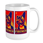 Obey the FRENCH BULLDOG! Large Mug